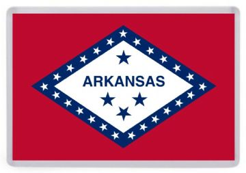 Arkansas State Flag Fridge Magnet. USA